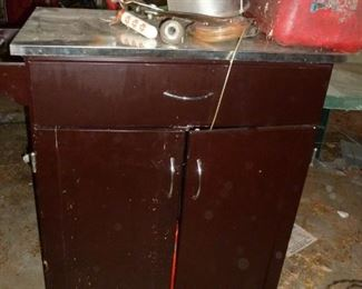 Another vintage cabinet..would be a great kitchen island!