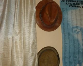Neat hats..one leather