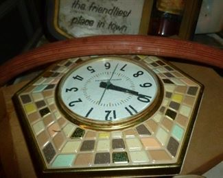 Retro tile clock