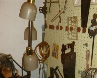 retro pole lamp & more tools