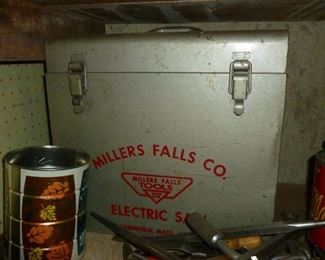 Miller Falls Circular Saw in original metal case