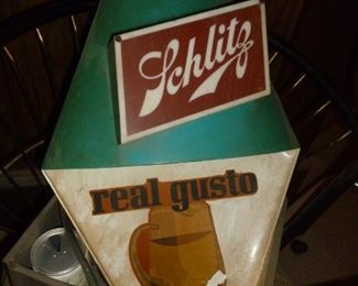 Schlitz Sign..(decal has a bit of damage)