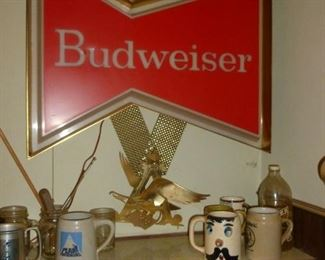 Awesome Budweiser sign with A&Eagle