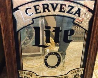 Vintage Cerveza beer sign
