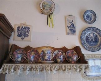 shelf & china