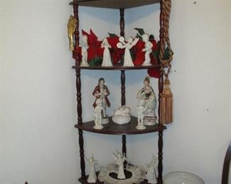 corner stand with angels & cherubs