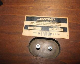 vintage Bose speakers 901