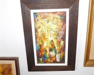 Abstract oil painting by Jesus Ortiz Tajenar