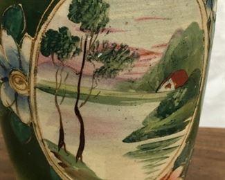LAN704: Hand Painted Japanize Pottery Vase  https://www.ebay.com/itm/123960408643