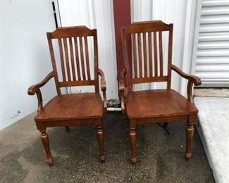 LAN733: 2 wooden captain style desk chairs  https://www.ebay.com/itm/113946001643