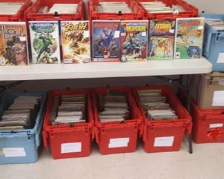 LAN741: Comic books $5.00 and up MARVEL, DC, etc . Silver age to modern. LAN741   - Only available offline at office