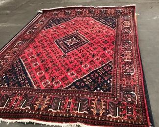 """LAN738: Antique Middle Eastern Area Rug Hand Knotted 117"""" X 78""""  https://www.ebay.com/itm/123989621910"""