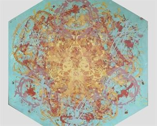 ML3009: Conner McManus Art Triple Collision 67″x57″ Acrylic on canvas 2016  https://www.ebay.com/itm/123974601927