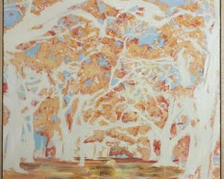ML3013: Conner McManus Art: Audubon Trees 36″x36″ Giclee and Acrylic on Birch  https://www.ebay.com/itm/113966013873