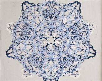 ML3059: Conner McManus Art: Blue Blot Mandala Giclee, Acrylic, & Resin on wood  https://www.ebay.com/itm/123974931571