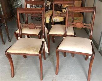 "SL3009: Regency Style Duncan Phyfe 4 Dinning Chairs Local Pickup  ""https://www.ebay.com/itm/123960487198"