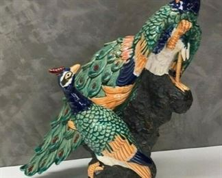 SM013: PEACOCK CERAMIC STATUE MADE IN CHINA LOCAL PICK UP   https://www.ebay.com/itm/113936589073