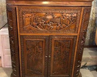 SM3002: Rococo Style Antique Hideway Carved Wooden Bar  https://www.ebay.com/itm/123960462940