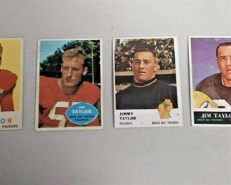 WY0362 LOT OF 4 JIM (JIMMY) TAYLOR FOOTBALL CARDS INCLUDING A ROOKIE CARD  https://www.ebay.com/itm/113958189216