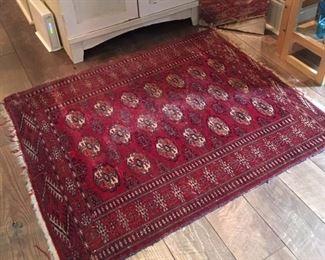 "WY1005: Afghani Handmade Rug 47"" X 38"" Local Pickup Vintage Handmade  https://www.ebay.com/itm/123952007893"