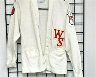 WY3004: VINTAGE 1971 WHITE SOX SWEATER 'CITY CHAMPS GRID' SIZE S  https://www.ebay.com/itm/123952007891