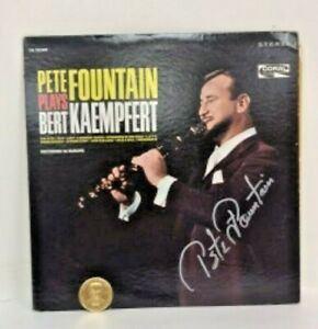 WY3010: PETE FOUNTAIN PLAYS BERT KAEMPFERT LP SIGNED WITH DOUBLOON  https://www.ebay.com/itm/123952007902
