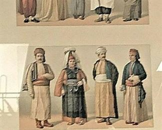 SM017: TURKEY EUROPE OUTFITS ANTIQUE 1800S LITHOGRAPH PRINT 18.5X22 LOCAL PICKUP  https://www.ebay.com/itm/113936589078