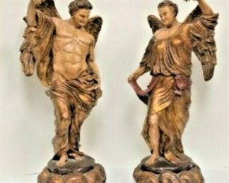 SM037: SET OF 2 LARGE ANGELS BY MARLO M.A.C. SCULPTURE LOCAL PICKUP  https://www.ebay.com/itm/123936554221