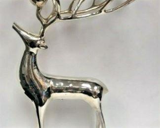 SM041: POTTERY BARN CHRISTMAS REINDEER SILVER 10 CANDLABRA LOCAL PICKUP  https://www.ebay.com/itm/123936554224
