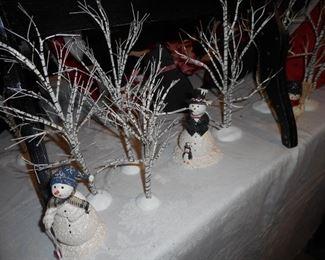Snownickel figures & Dept 56 Trees