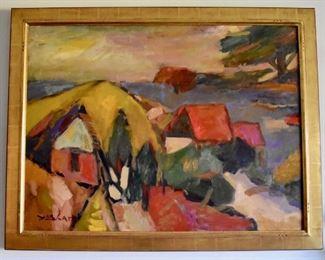 "Original oil painting on canvas, ""San Raphael"" by Yasharel Manzy"