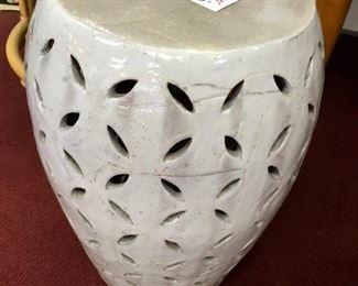 "Ceramic garden seat, 11""x20"""