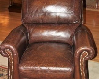 "Full hide leather recliner. 36.5""x 38"" tall  Excellent condition.  Asking $850"