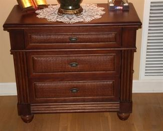 "Tommy Bahama three drawer service cabinet. 33"" x 29"" Excellent condition  Asking $145"