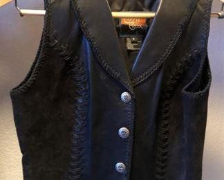 Cripple Creek Leather Vest sz S