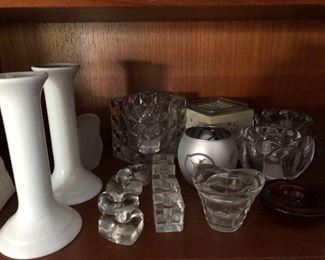 Wide selection of candle holders, votive, pillar and taper.