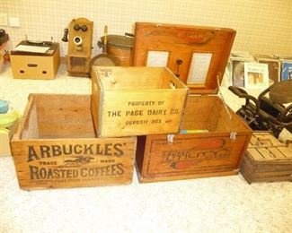 wooden crates and MORE