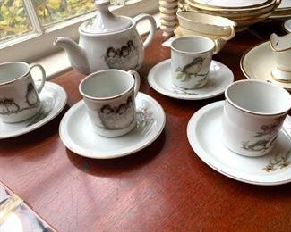 Bird children's tea set.