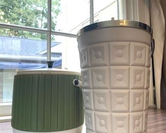 MCM ice buckets with lids.