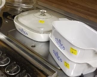corning ware bakeware, and lots of other cookware and housewares