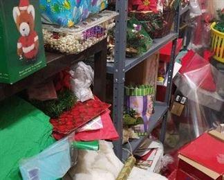 More shelves of Christmas decor