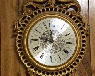 vintage wall clock. Battery operated