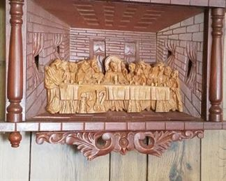 vintage Lord's Supper wall decor