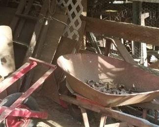 Wheelbarrow in Outbuilding 3