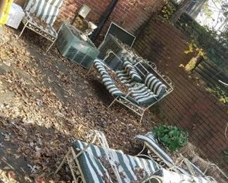 Metal Lawn Furniture with cushions