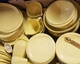 Set of vintage melamine dishes