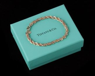 4: Tiffany & Co. Two-Tone Twisted Rope Bracelet, Sterling & 18k