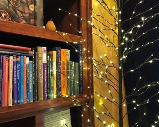 Sculptural tree lights, books, and fun art are waiting for you.