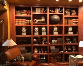 Everything you need is here for your designer home.  Leather bound books, violins (we also have guitars and banjos), globes, spheres, lamps, zebra art, and Buddha heads.