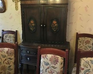 hutch with matching buffet  chairs sold in groups of 4